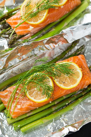 Salmon & Asparagus Foil Pack Ketogenic Recipe