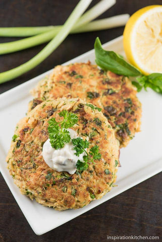 Salmon Burger With Red Pepper & Capers Recipe