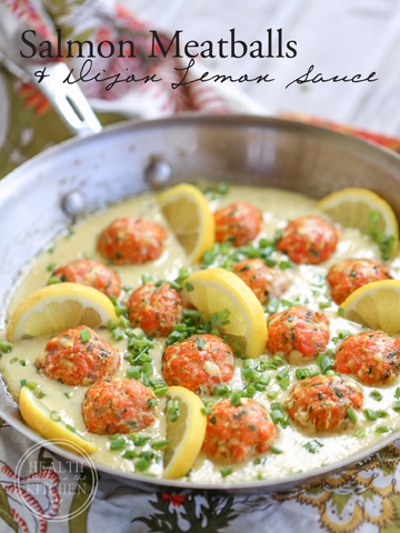 Dijon-Lemon Salmon Meatballs