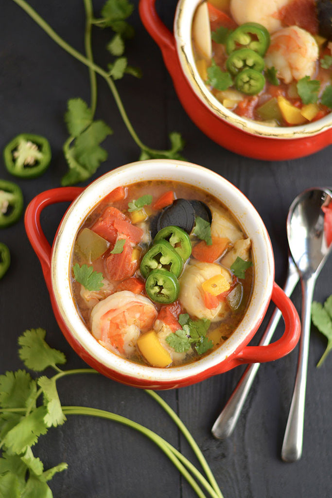 Seafood chili for Whole30