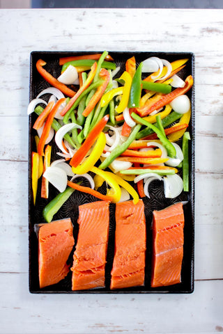 Sheet Pan Fajita Salmon