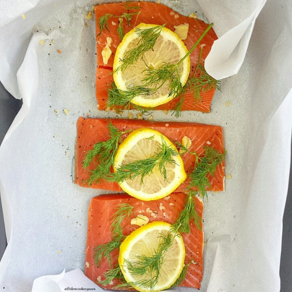 Whole30 Slow Cooker Salmon With Lemon & Dill