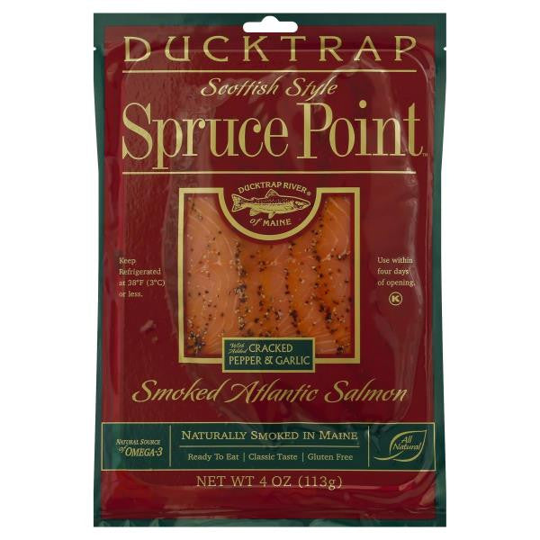 Spruce Point Cracked Pepper & Garlic Smoked Salmon