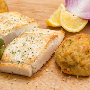 Alaskan Halibut With Crabcakes
