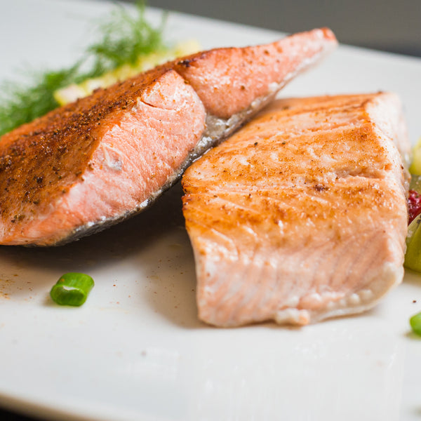 Sockeye Salmon and Atlantic Salmon Fillet