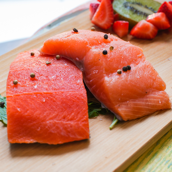 Atlantic Salmon and Alaskan Sockeye Salmon Fillet