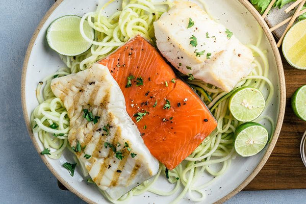 Atlantic Cod Fillet With Sockeye Salmon And Wild Caught Haddock