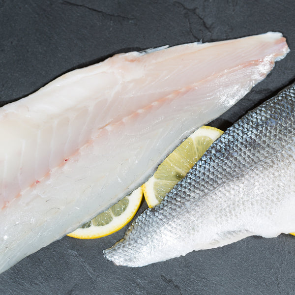black sea bass fillet raw