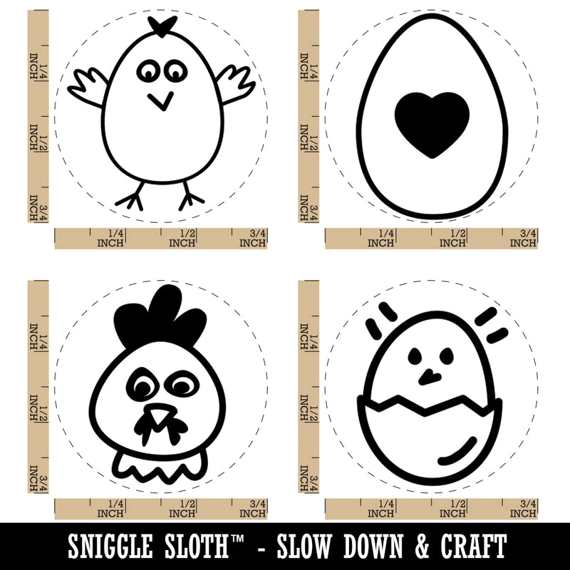 Rooster Chicken Standing Solid Rubber Stamp for Stamping Crafting Planners 1//2 Inch Mini