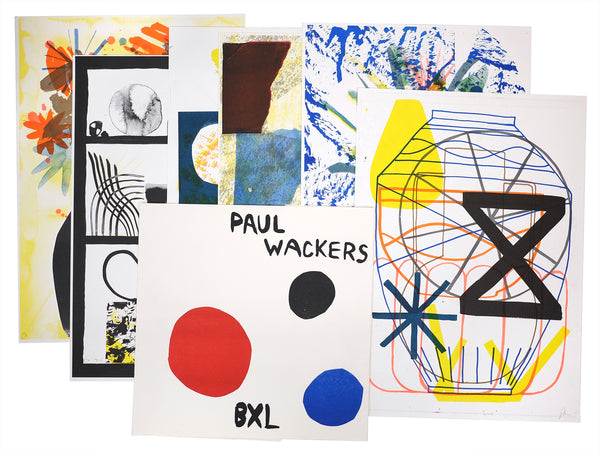 Paul Wackers - set of 6 riso prints