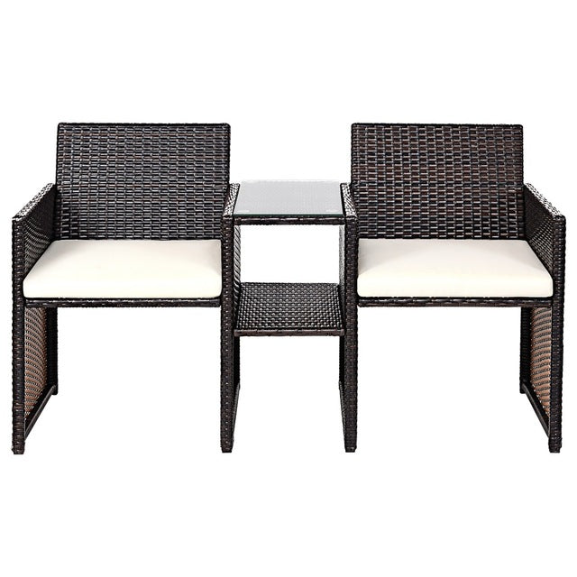 Super Patio Rattan Chairs Conversation Cushioned Seat Sofa Set Pdpeps Interior Chair Design Pdpepsorg