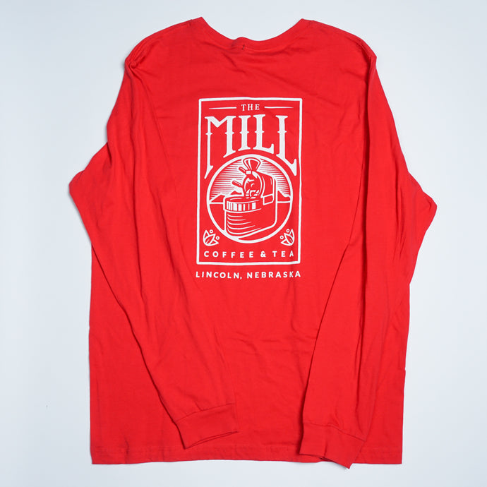 Long Sleeve Shirt - Logo in Red