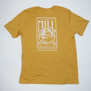 Short Sleeve Mustard Logo T-Shirt