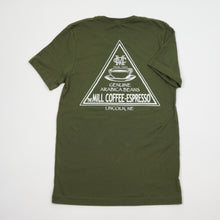 Load image into Gallery viewer, Short Sleeve T-Shirt - Olive Triangle Logo