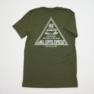 Short Sleeve T-Shirt - Olive Triangle Logo