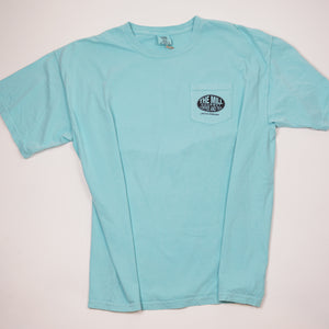 Short Sleeve Aqua Triangle Logo T-Shirt