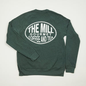 Long Sleeve Pullover Sweatshirt - Oval Logo in Forest
