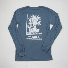 Load image into Gallery viewer, Long Sleeve Heather Blue Spiky T-Shirt
