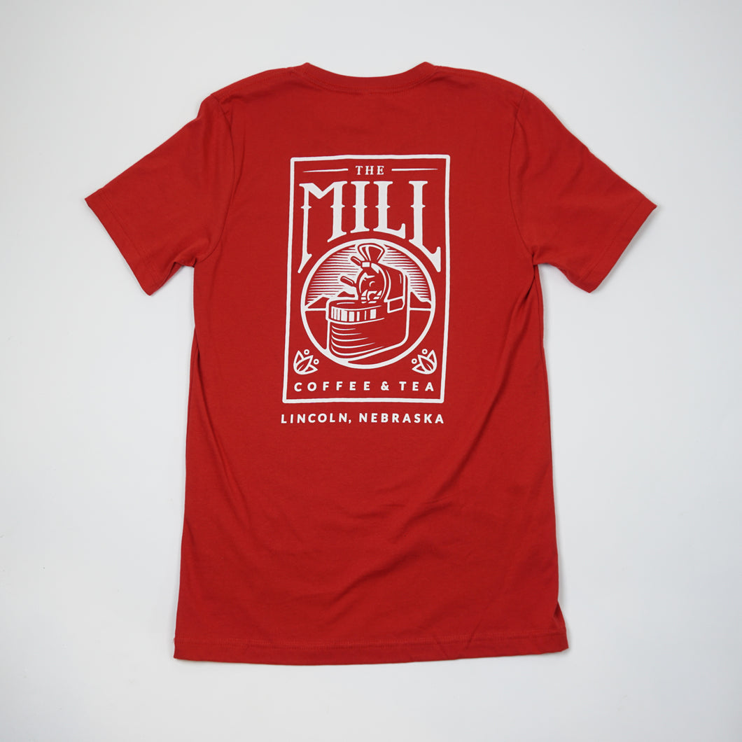 Short Sleeve Shirt - Logo in Red