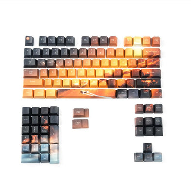 Saturn Orange Gradient Keycaps