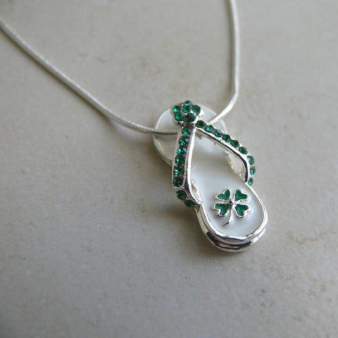 St. Patrick's Day Flip Flop Necklace
