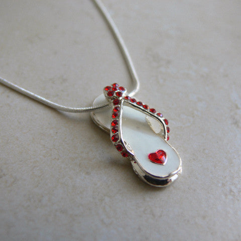 Valentine's Day Flip Flop Necklace