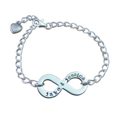 Hand Stamped Infinity Bracelet