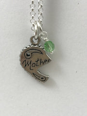 Mother & Daughter Birthstone Necklace