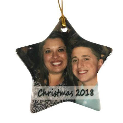 Personalized Photo Star Ornament