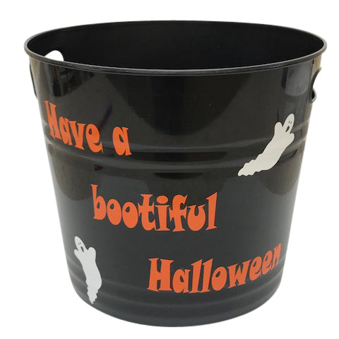 Personalized Have A Bootiful Halloween Candy Bucket