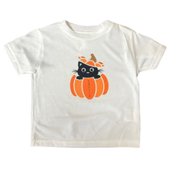 Personalized Toddler Halloween Kitty T-Shirt