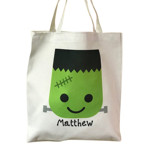Personalized Halloween Monster Treat Bag