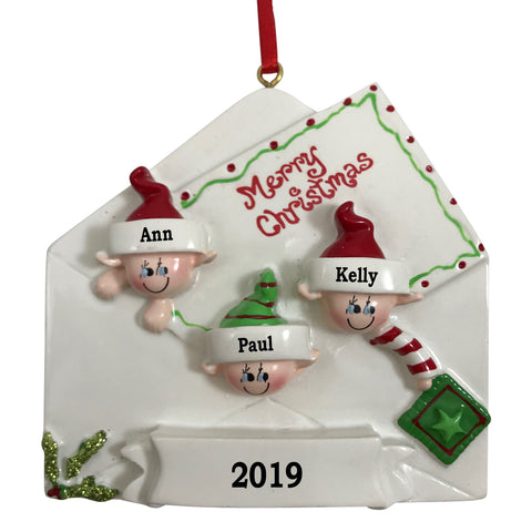 Just Becuzz Family Personalized Elf Ornament
