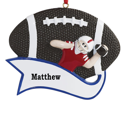 Just Becuzz Football or Baseball Player Personalized Ornament