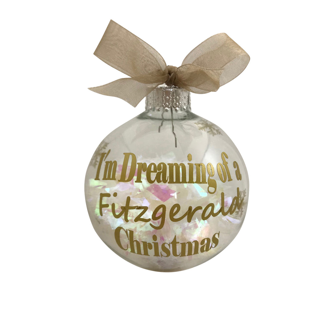 Personalized Gold I Am Dreaming Christmas Ornament