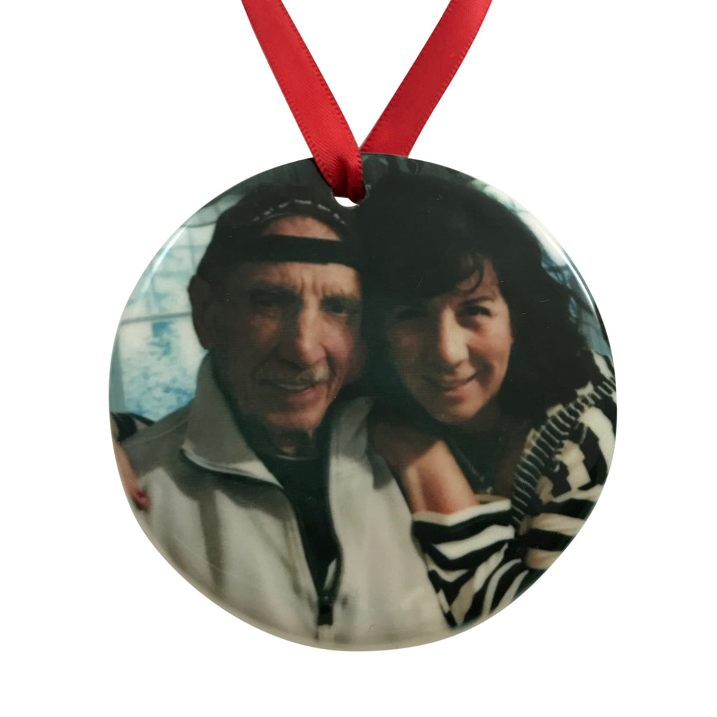 Just Becuzz Personalized Memorial Photo Ornament - 2 Sided
