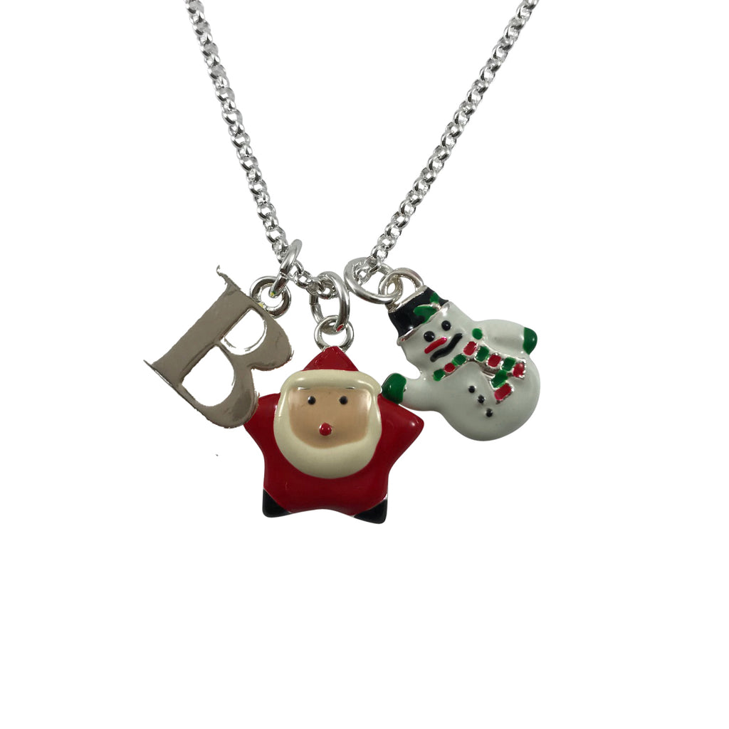 Just Becuzz Personalized Christmas Charm Necklace