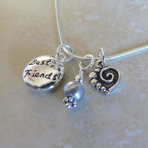 Best Friends Charm Necklace