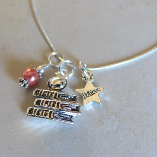 Special Teacher Charm Necklace
