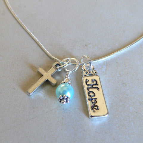 Faith and Hope Charm Necklace