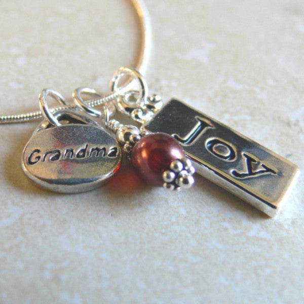 Special Grandma Charm Necklace