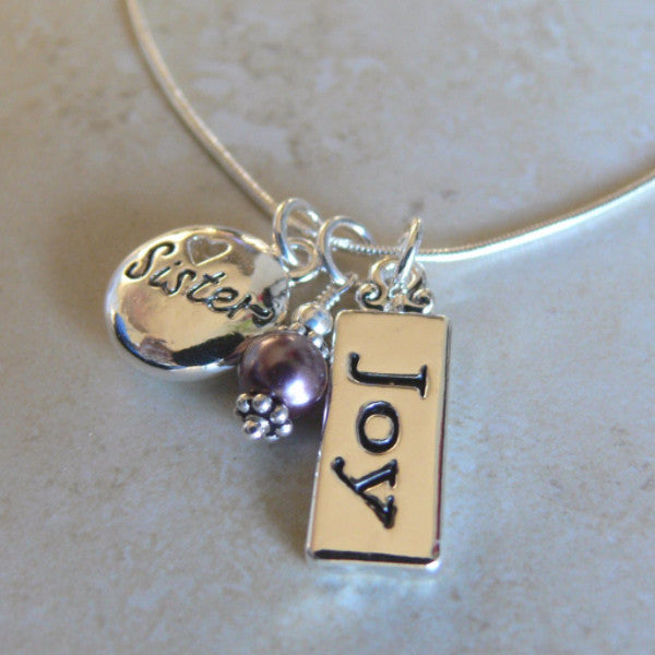 Special Sister Charm Necklace