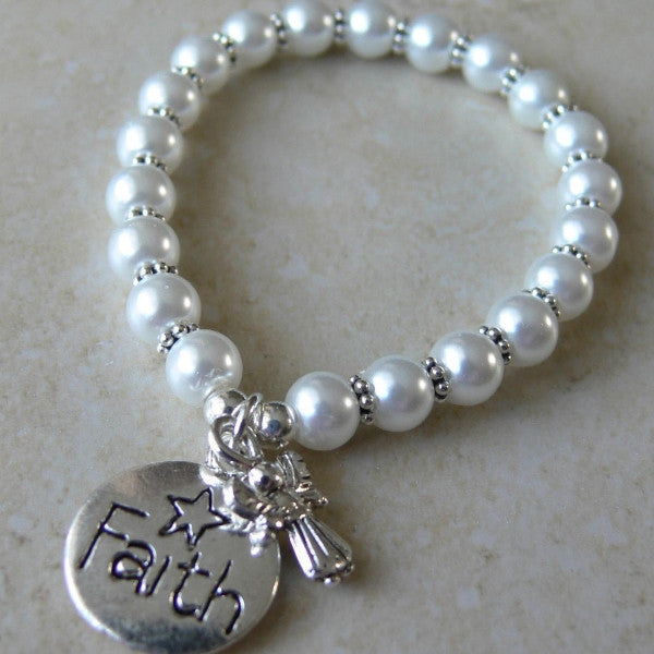 Angel of Faith Child's Charm Bracelet