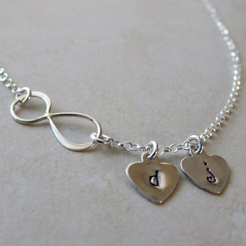 Hand Stamped Personalized Infinity Necklace
