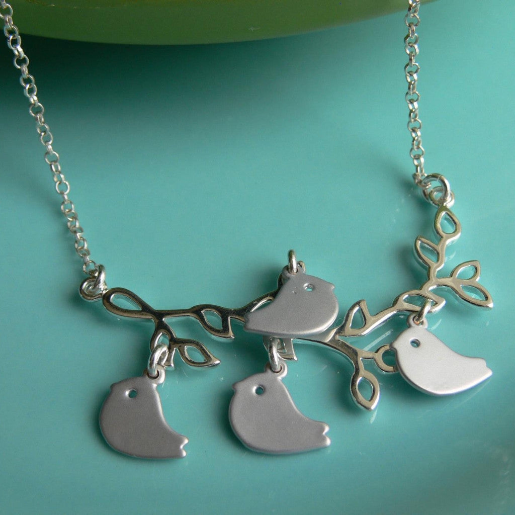 Mother's Baby Bird Necklace