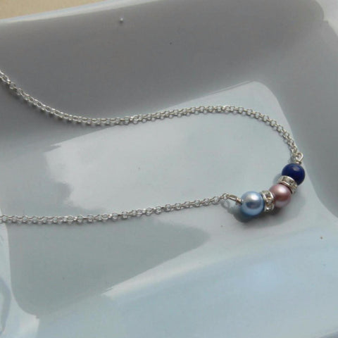 Mother's Birthstone Pearl necklace