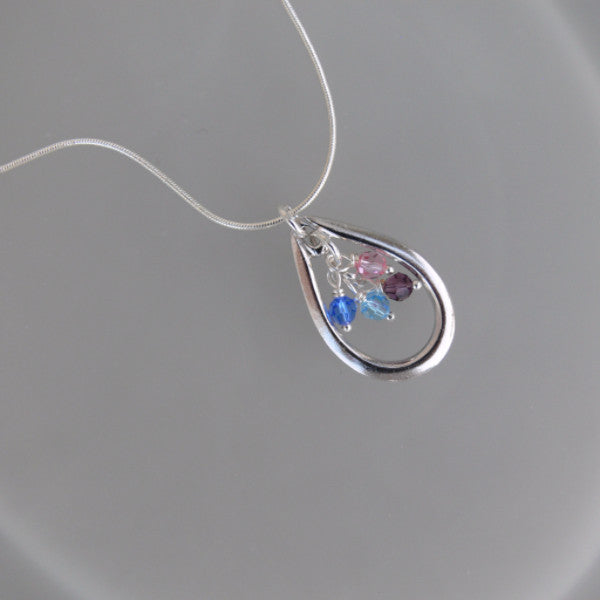 Teardrop Birthstone Necklace