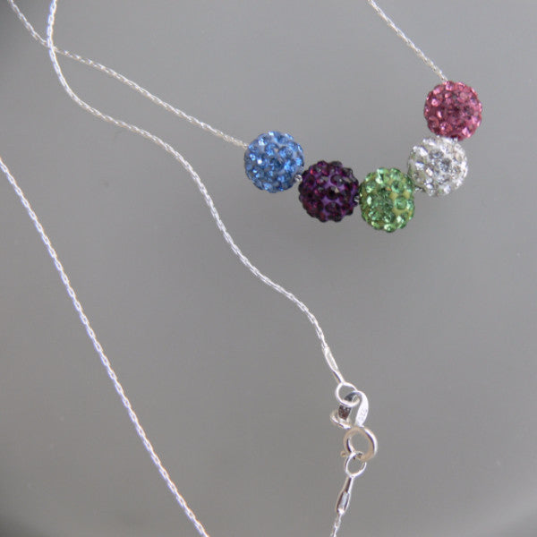 Round Crystal Birthstone Necklace