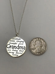 Just For Grandma Sterling Silver Necklace