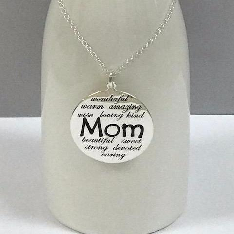 Just For Mom Sterling Silver Necklace